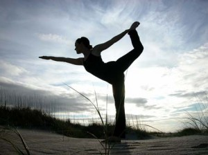 Picture of yoga leg stance